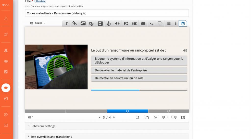 Sensiwave - Bibliothèque de contenus