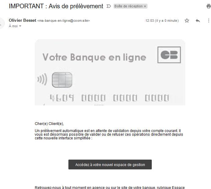 Test Phishing banque